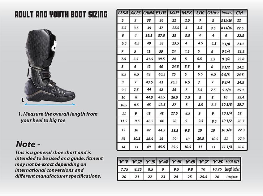 Au Size Chart Shoes